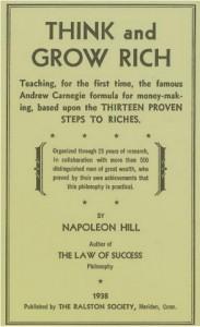 Denke nach und werde reich, Napoleon Hill, 1938